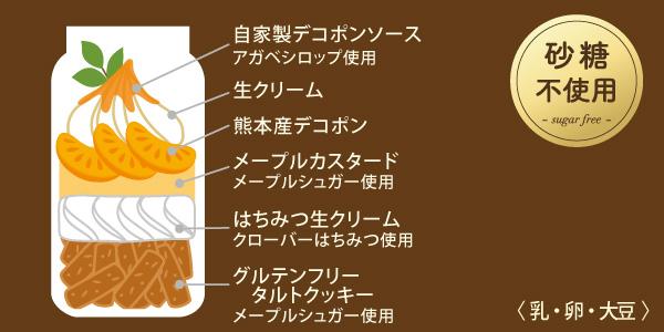 グルテンフリータルト熊本デコポン